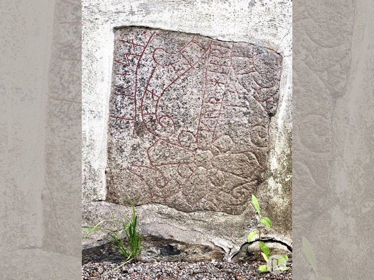 Photo of Rune stone U381, L2015:2608 in Sigtuna parish